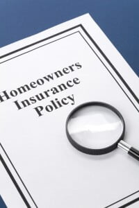 A homeowners insurance policy