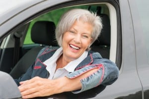 mature woman driver